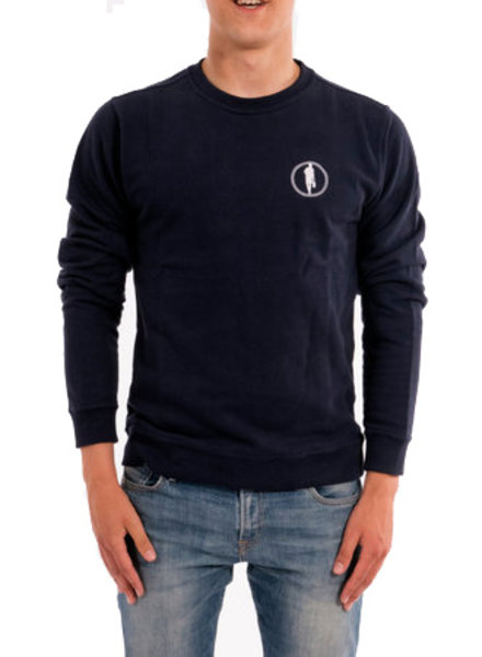 STEDT SWEATSHIRT LOGO 014 NIGHT BLUE