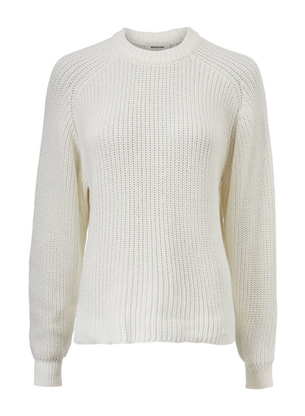 MODSTRÖM 55274 Etta o-neck, knit sweater off white