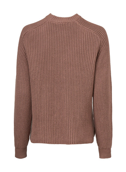 MODSTRÖM 55274 Etta o-neck, knit sweater raw umber