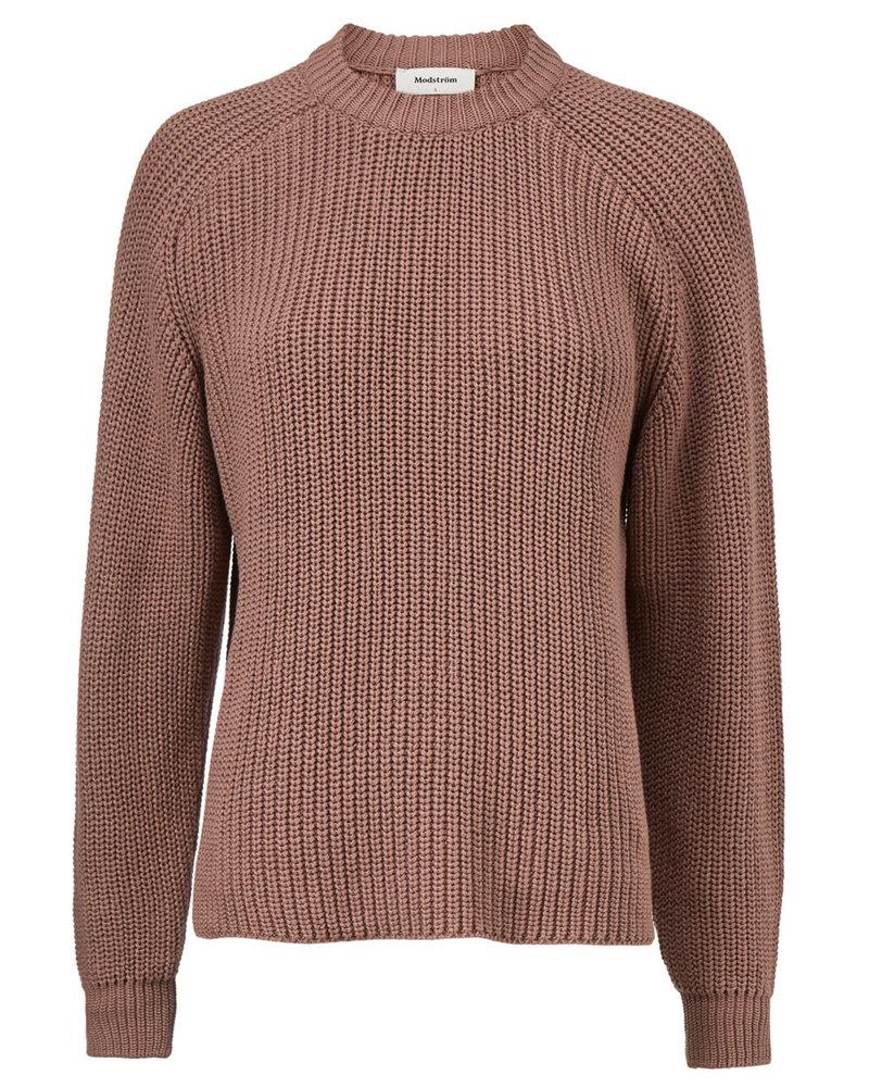 MODSTRÖM 55274 Etta o-neck, knit sweater raw umber