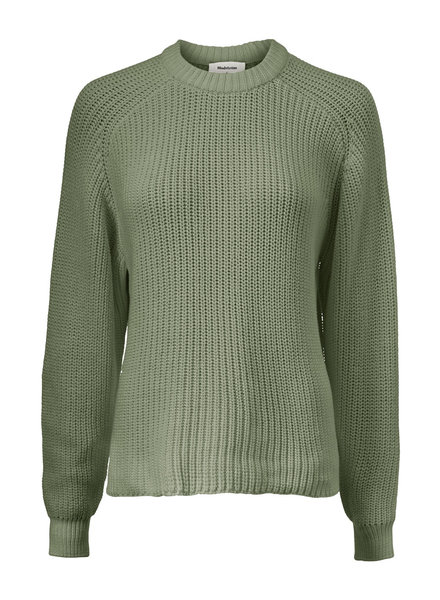 MODSTRÖM 55274 Etta o-neck, knit sweater light khaki