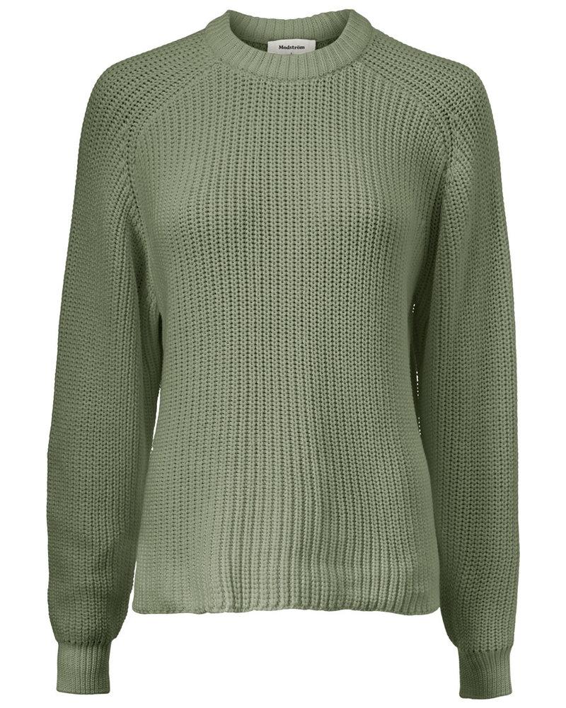 MODSTRÖM 55274 Etta o-neck, knit sweater light khaki