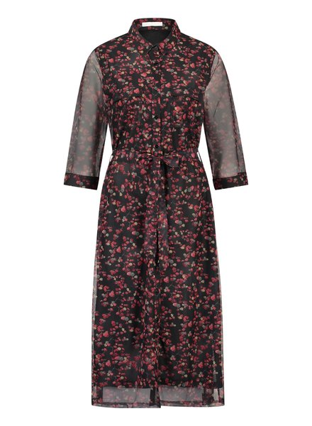 FREEBIRD Victoria-red midi dress 3/4 sleeve cherry-pes-01