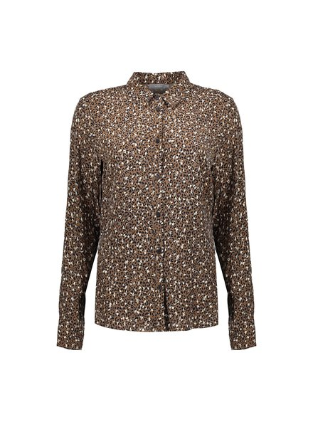 GEISHA 03645-20 Blouse minimal leopard l/s taupe combi
