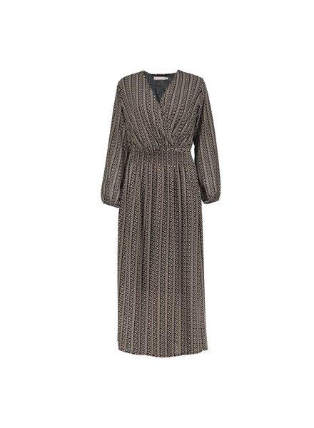 GEISHA 07610-70 Dress black/sand/tabacco
