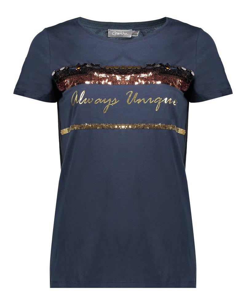 GEISHA 02580-46 T-shirt always unique navy
