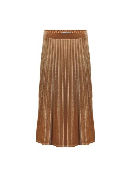 GEISHA 06585-60 Skirt velours plisee gold
