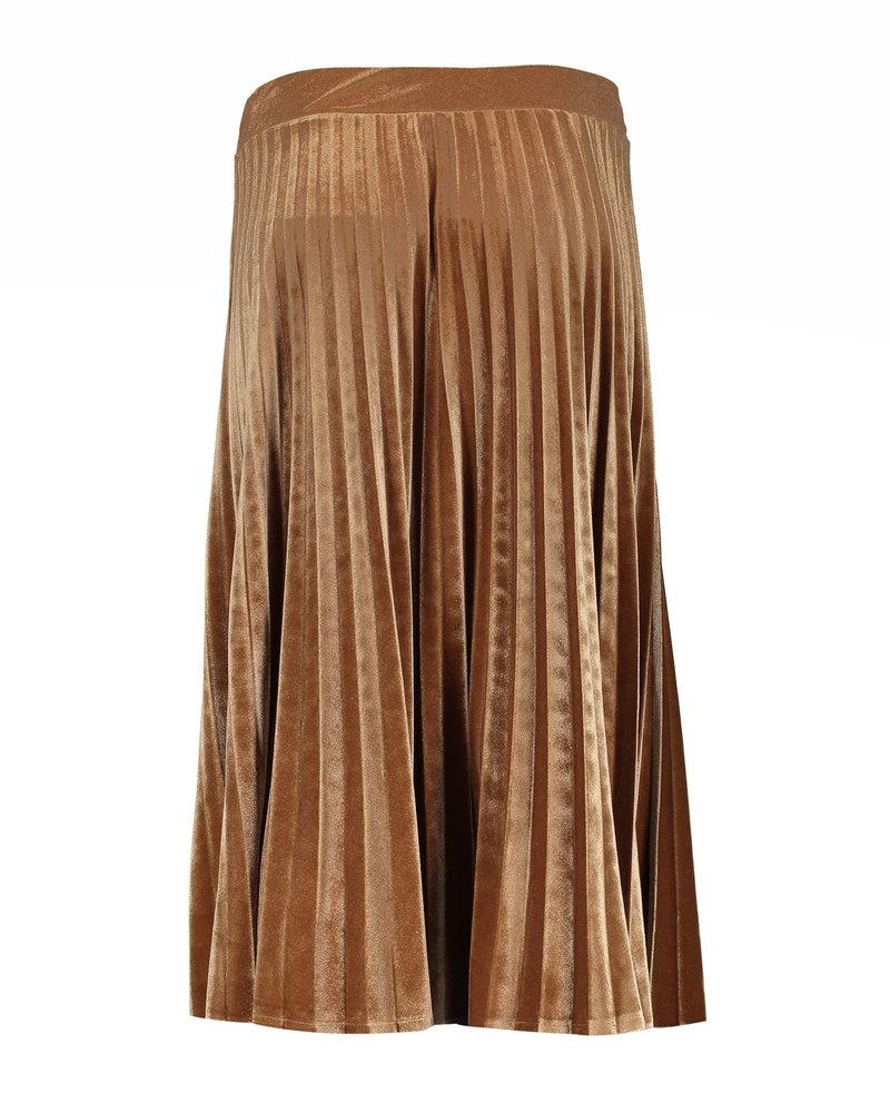 GEISHA 06585-60 Skirt velours plisee gold
