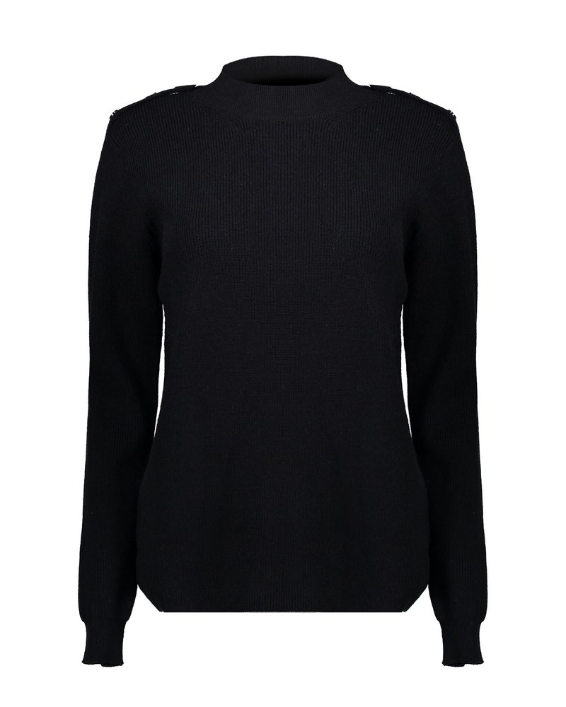 GEISHA 04544-22 Pullover buttons at shoulder black