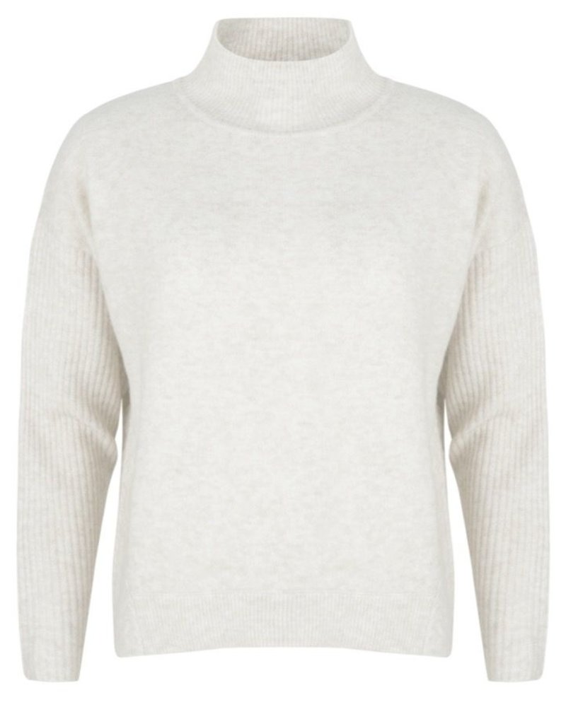 ESQUALO F20.03538 Sweater col cable knitting off white