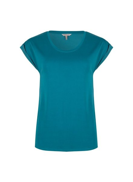 ESQUALO F20.30510 T-shirt turn up sleeve harbor blue