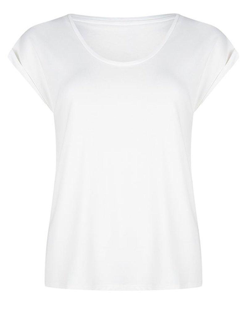 ESQUALO F20.30510 T-shirt turn up sleeve off white