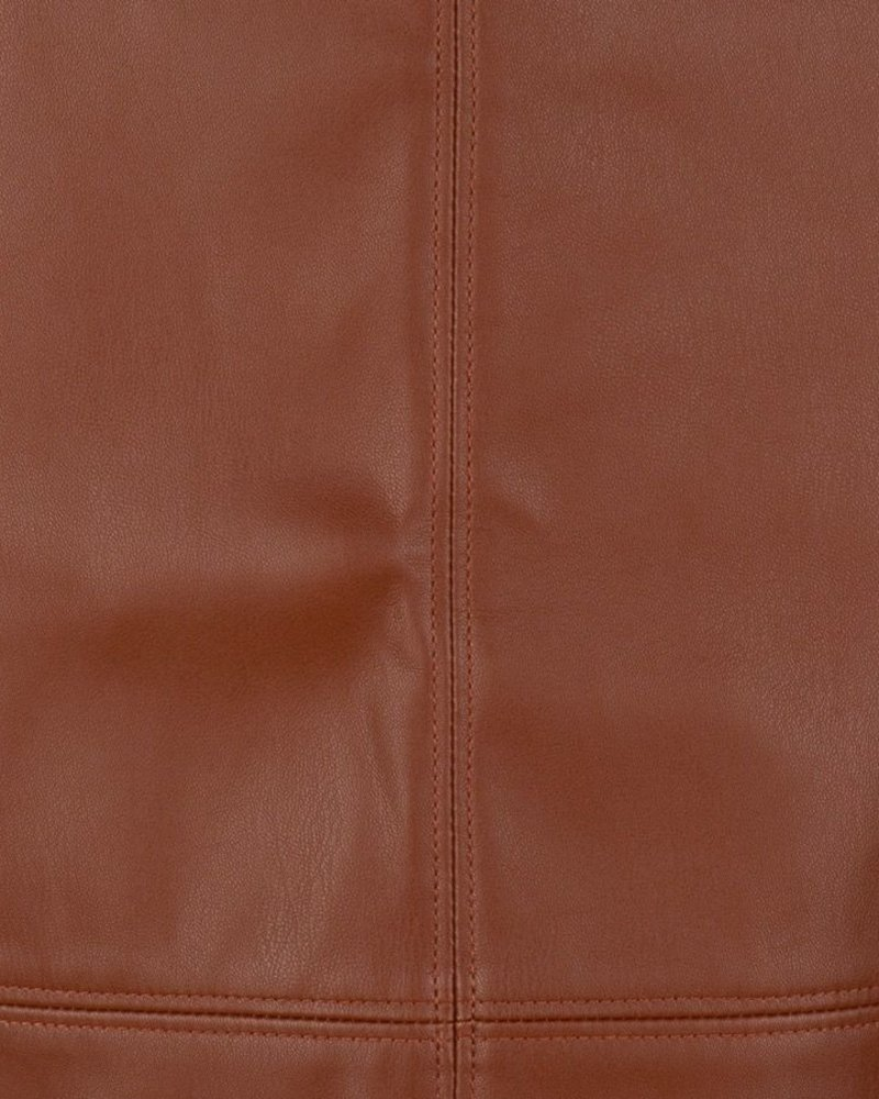 ESQUALO F20.04511 Skirt PU pencil brown