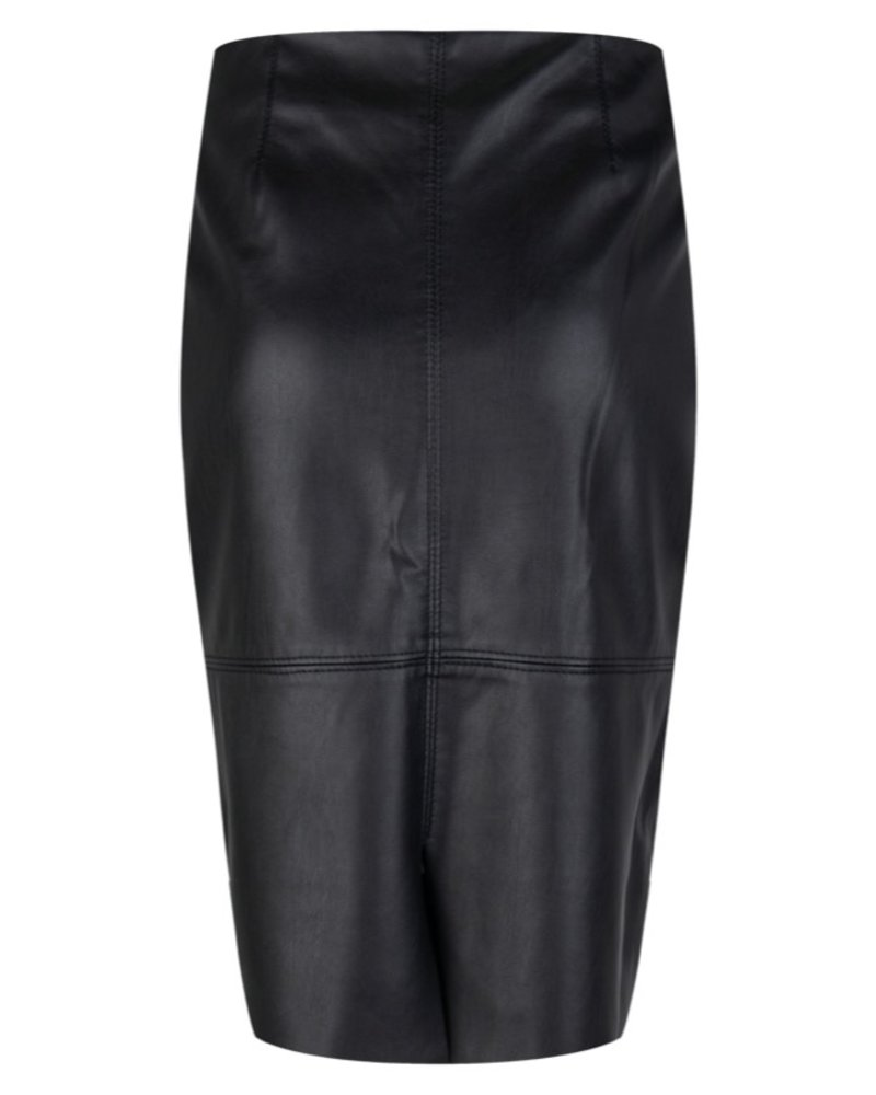 ESQUALO F20.04511 Skirt PU pencil black