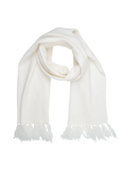 ESQUALO F20.03510 Scarf meet yarn off white