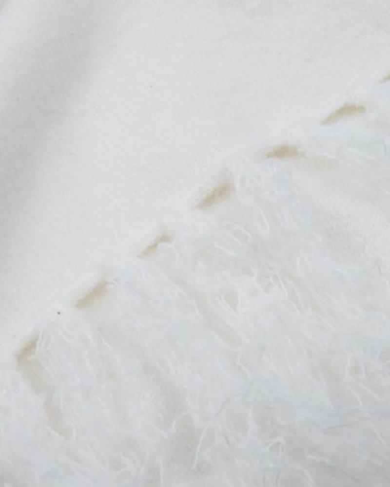 ESQUALO F20.03510 Scarf meet yarn off white