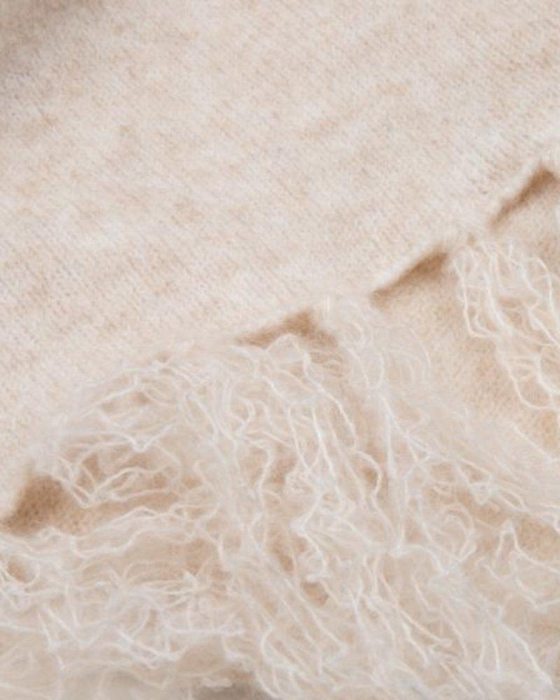 ESQUALO F20.03510 Scarf meet yarn beige