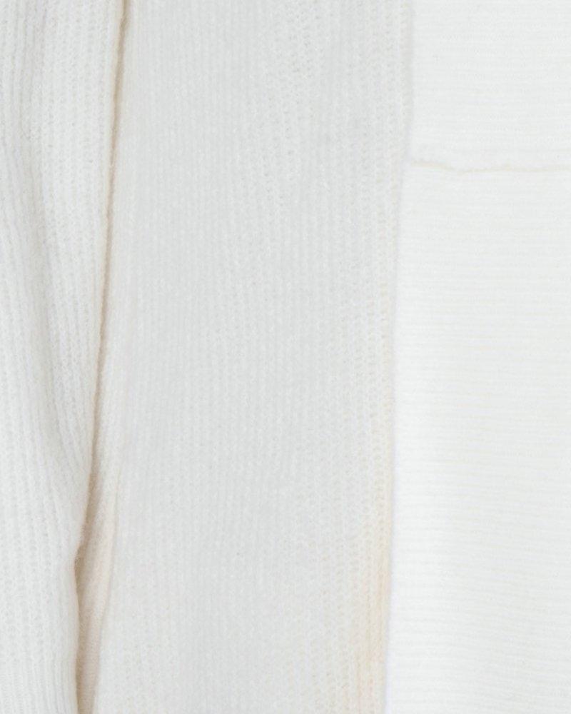 ESQUALO F20.03507 Cardigan wide plckt meet yarn beige