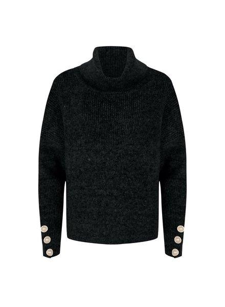 ESQUALO F20.02518 Sweater oversized buttons black