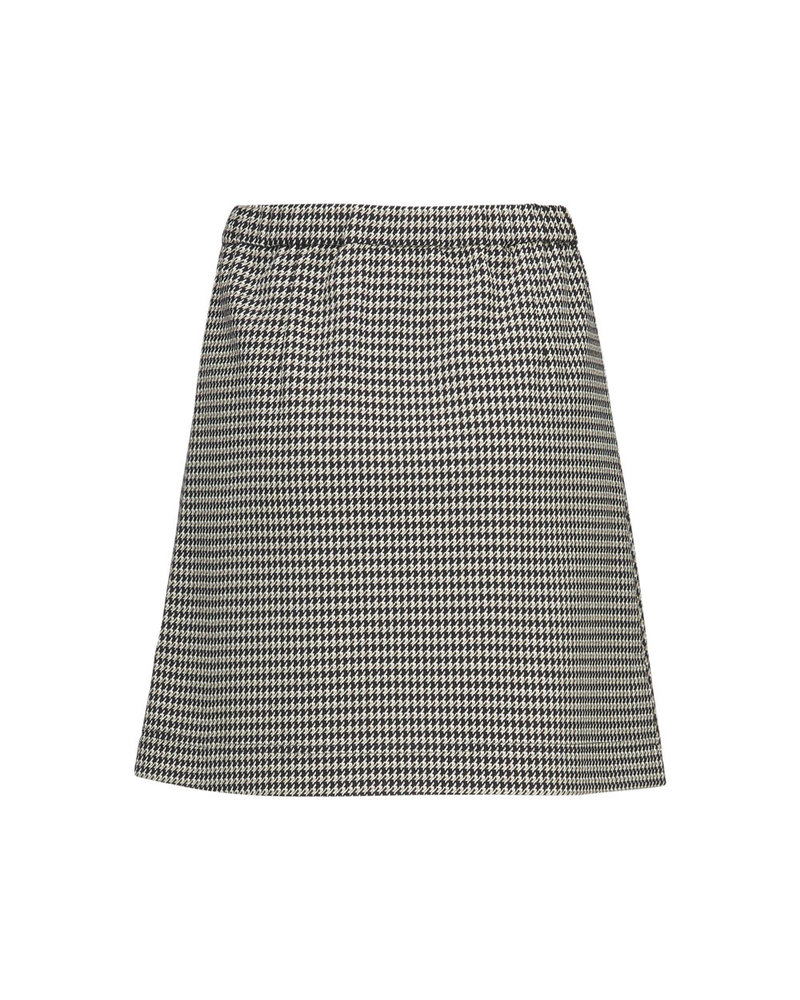 MODSTRÖM 55329 Fawn short check skirt, fashion skirt houndstooth check
