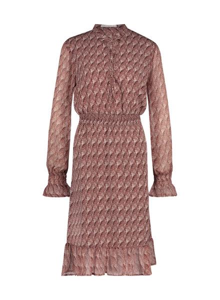 FREEBIRD Defne-brown midi dress long sleeve fire-pes-01