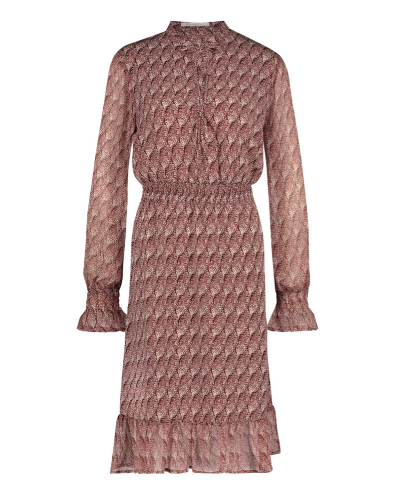 FREEBIRD Defne-brown midi dress long sleeve fire-pes-01