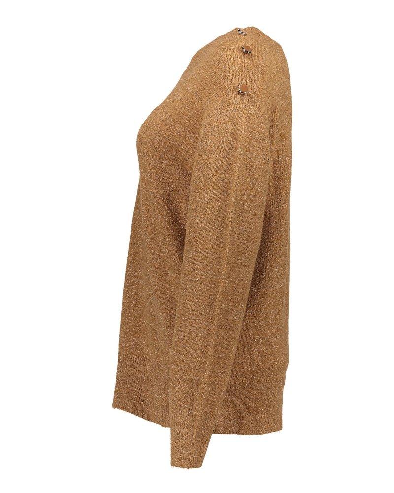 GEISHA 04546-22 Pullover lurex buttons at shoulder