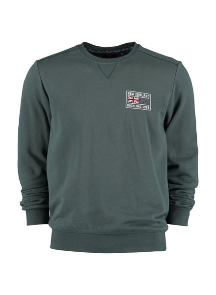 NZA NEW ZEALAND 20GN301 Paekakariki sweat round neck 457 Field green