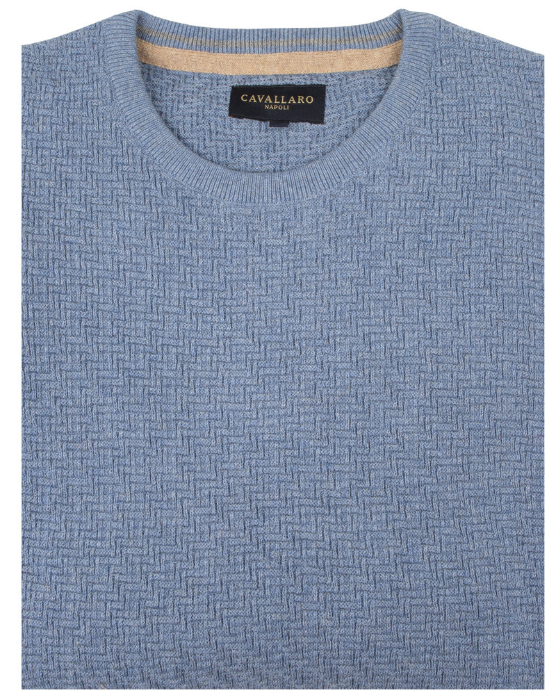 CAVALLARO Trento pullover 118205003 Light blue 600000