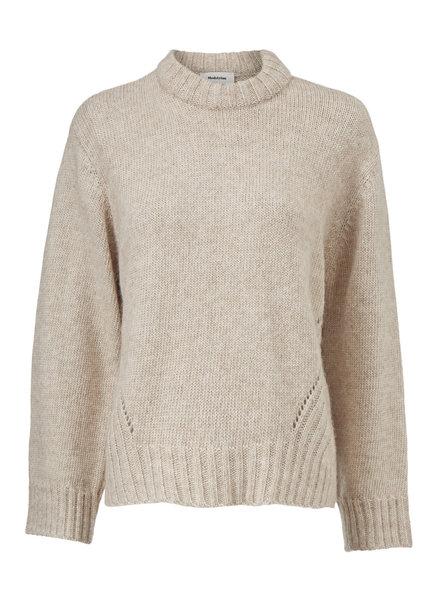 MODSTRÖM 54338 Sanka t-neck, knit sweater beige melange