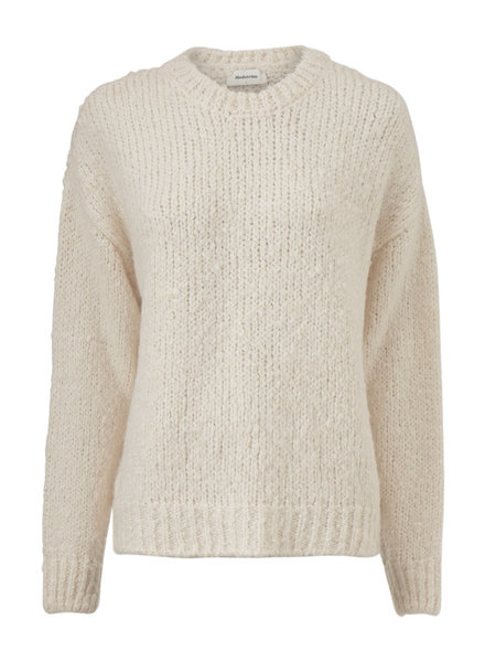 MODSTRÖM 54651 Valentina o-neck, knit sweater off white