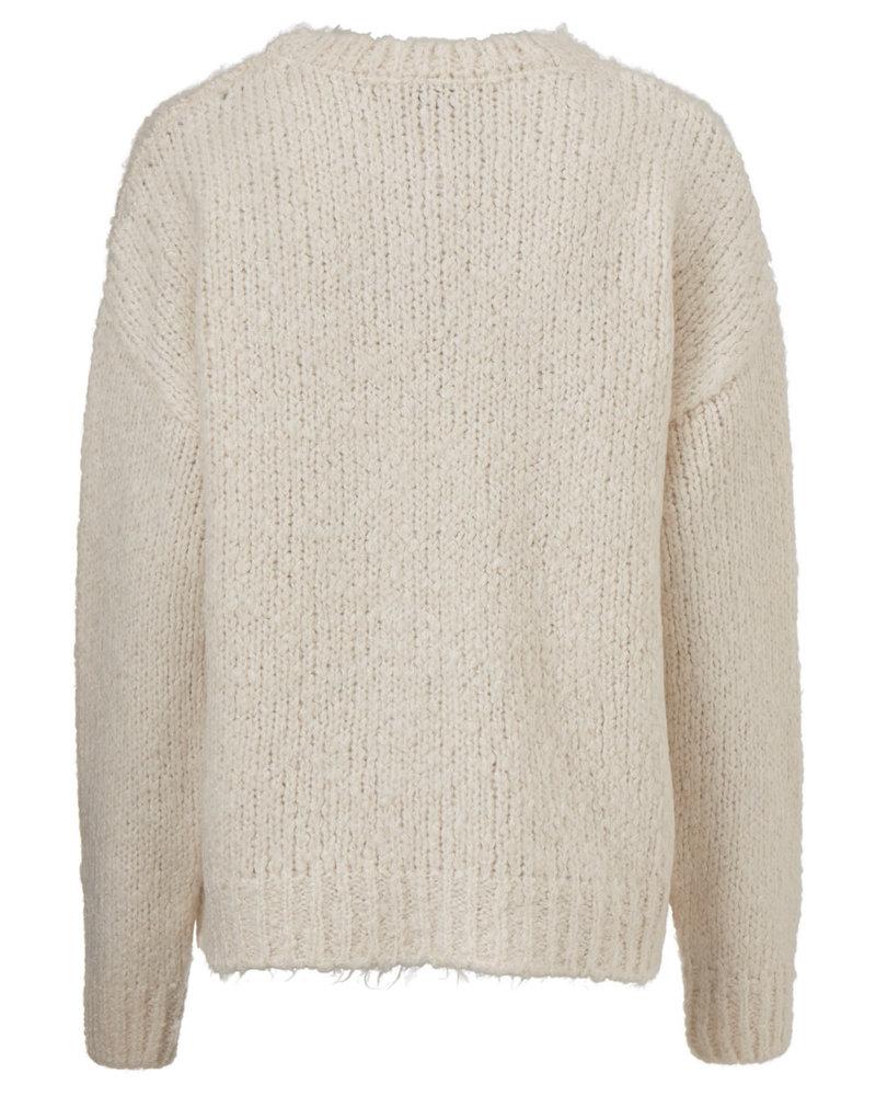 MODSTRÖM 54651 Valentina o-neck, knit sweater off white
