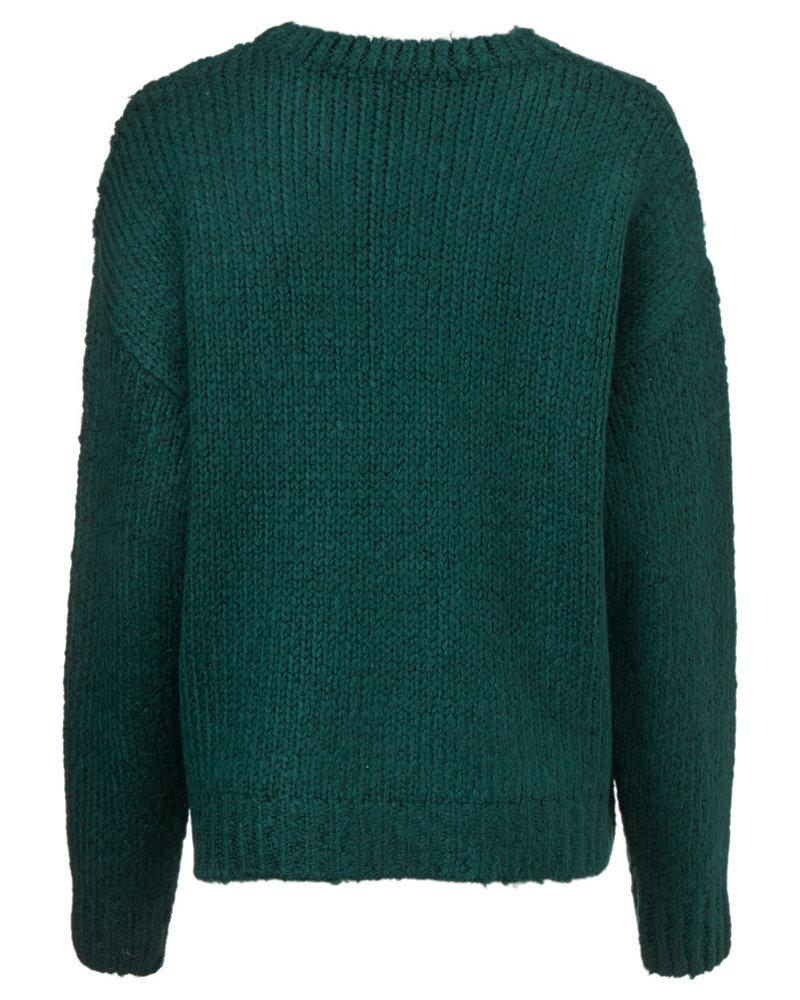MODSTRÖM 54651 Valentina o-neck, knit sweater empire green
