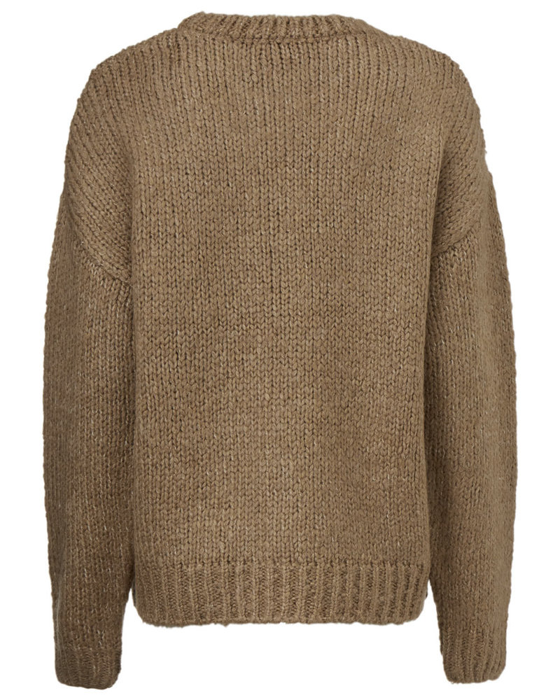 MODSTRÖM 54651 Valentina o-neck, knit sweater camel