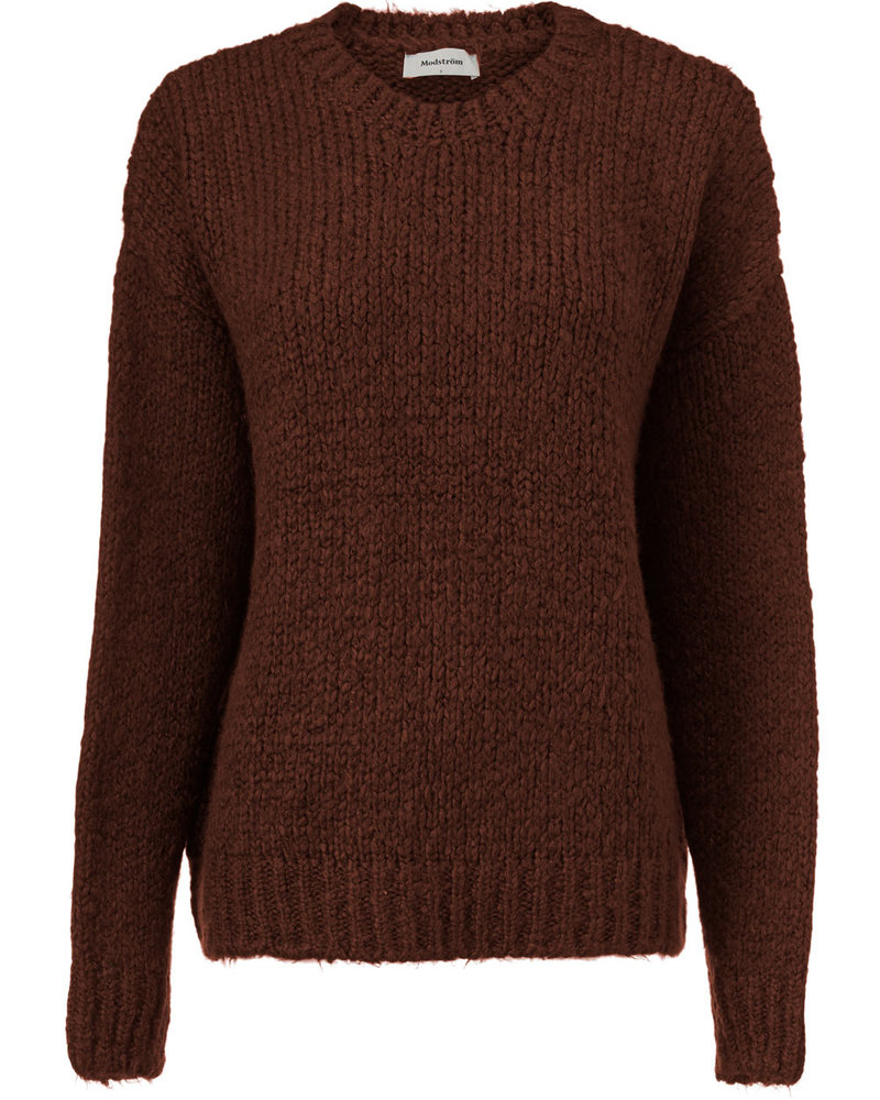 MODSTRÖM 54651 Valentina o-neck, knit sweater moscha bisque