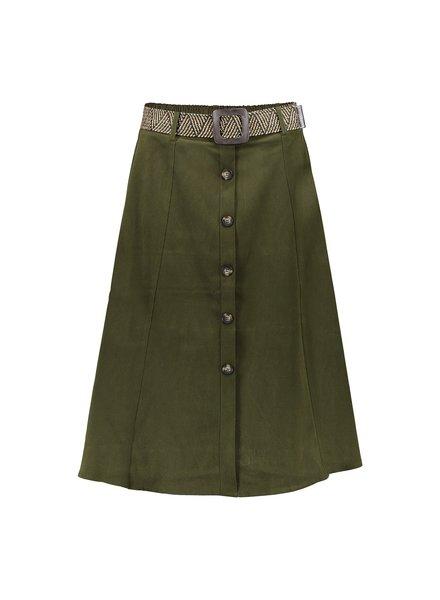GEISHA 06519-10 Skirt wide suedine army