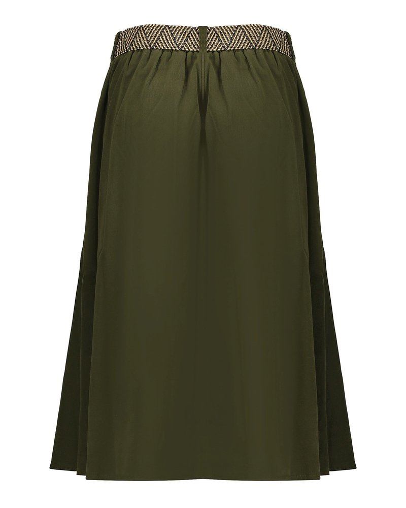 GEISHA 06519-10 Skirt wide suedine army