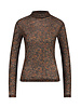 FREEBIRD Ella-brown long sleeve top mini-flower-pa-03