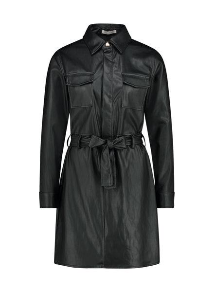 FREEBIRD Elya-black mini dress long sleeve pu-01