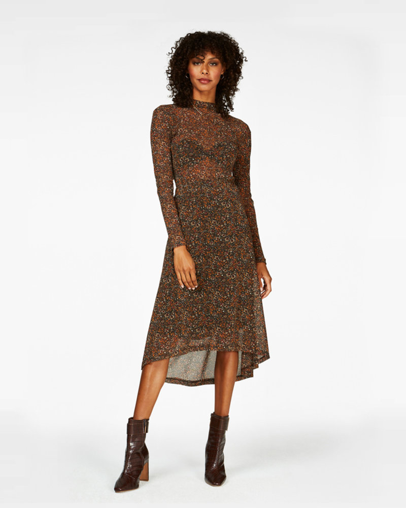FREEBIRD Finne-brown midi skirt mini-flower-pa-03