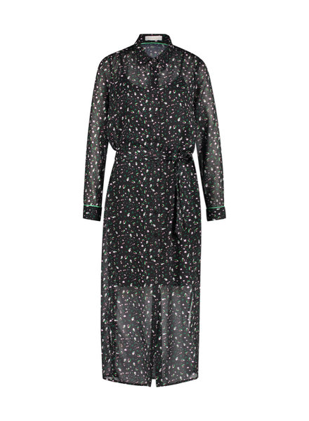 FREEBIRD Harper-black midi dress long sleeve bean-pes-01