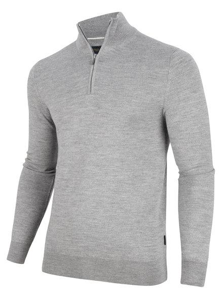 CAVALLARO Merino half zip 118205012 Light grey 900000