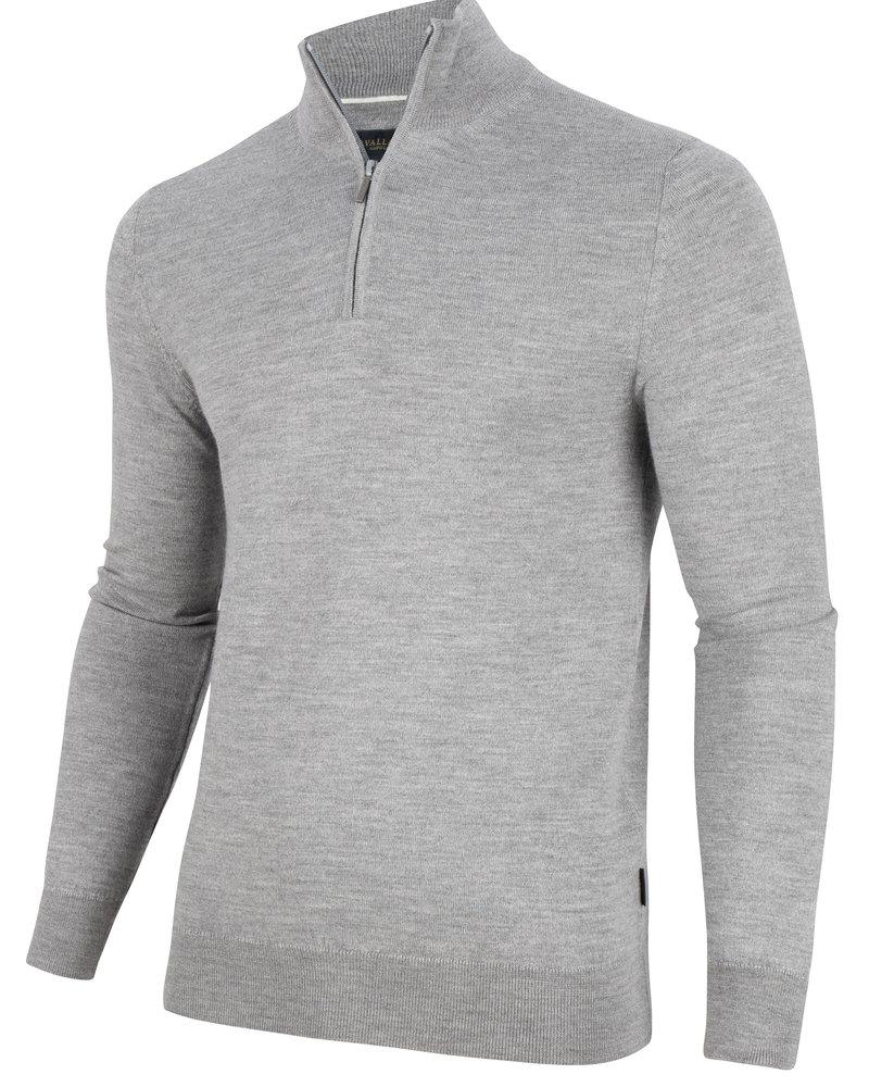 CAVALLARO Merino half zip 118205012 Light grey 900000