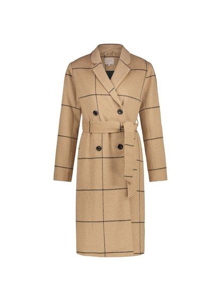 MILLA AMSTERDAM MFW20016.59 Marie coat camel check