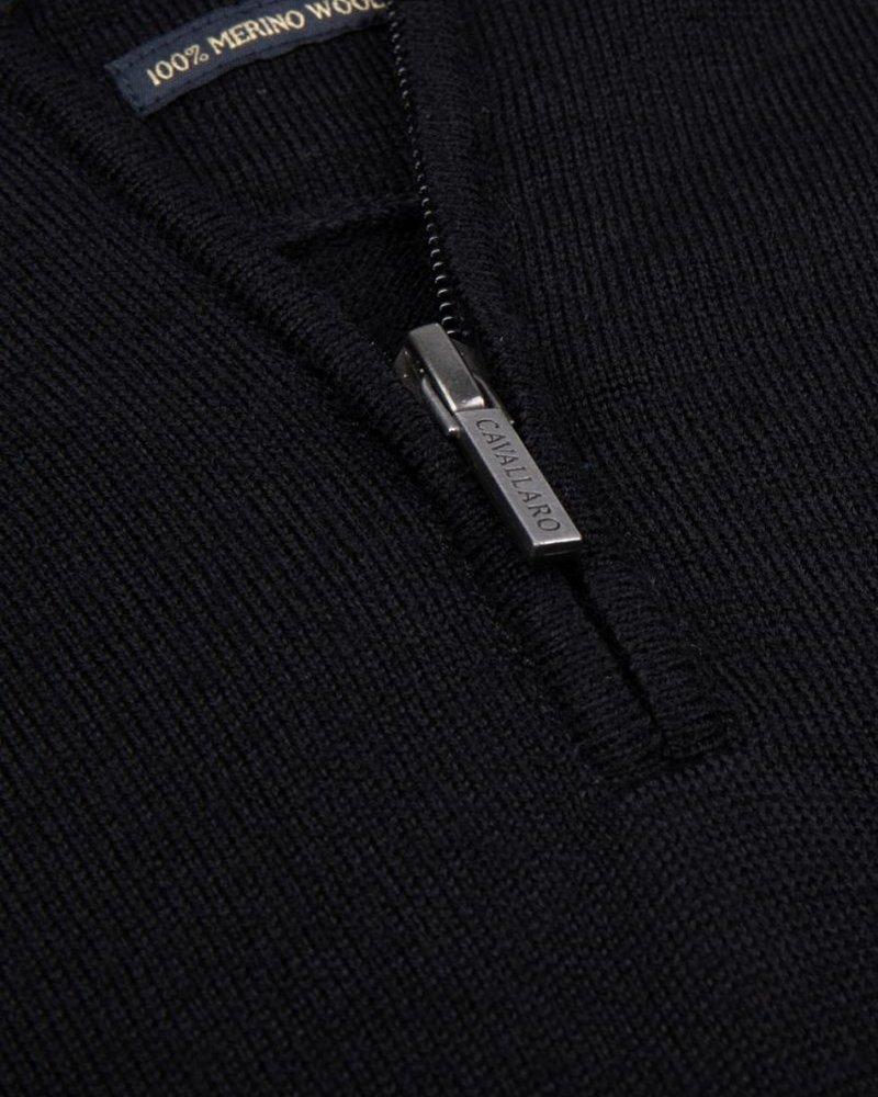 CAVALLARO Merino half zip 118205012 Black 999000