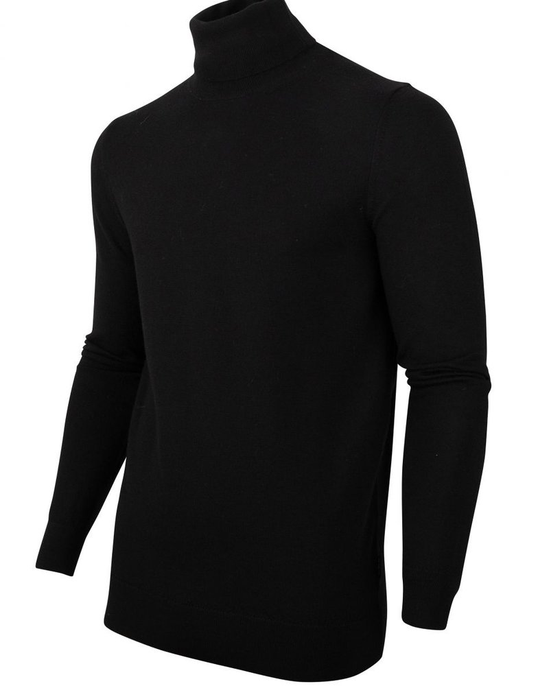 CAVALLARO Merino roll neck 118205002 Black 999000