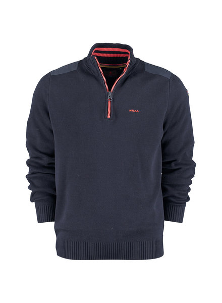 NZA NEW ZEALAND 20KN498 Waikuku beack pullover half zip 267 New navy