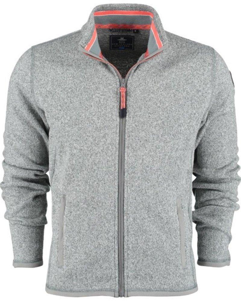 NZA NEW ZEALAND 20KN372 Matarangi sweat jacket 70 Grey melange