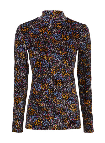 MODSTRÖM 55266 Flip print t-neck, top blue poetry flower