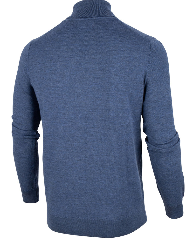 CAVALLARO Merino roll neck 118205002 Mid blue 650000